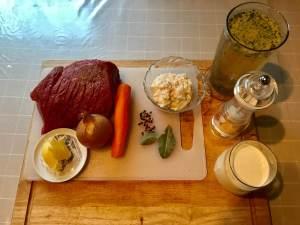 Rinderbraten aus der Keule in Meerrettich Soße Zutaten