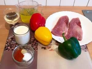 Paprika Sahne Ofenschnitzel mit Weißwein Zutaten