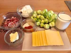 Rosenkohl mit Speck und Käse Soße Zutaten