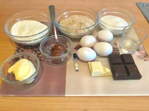 Haselnuss Schokoladen Taler Zutaten