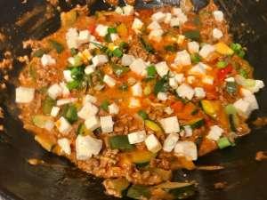 Mediterrane Paprika Zucchini Pfanne Zubereitung