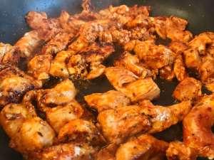 Zubereitung Hähnchen Gyros