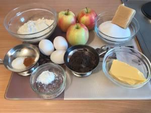 Einfacher Marzipan Apfel Kuchen Zutaten