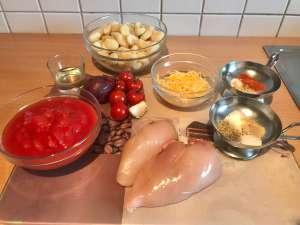 Hähnchenbrust auf Gnocchi in Tomatensauce Zutaten