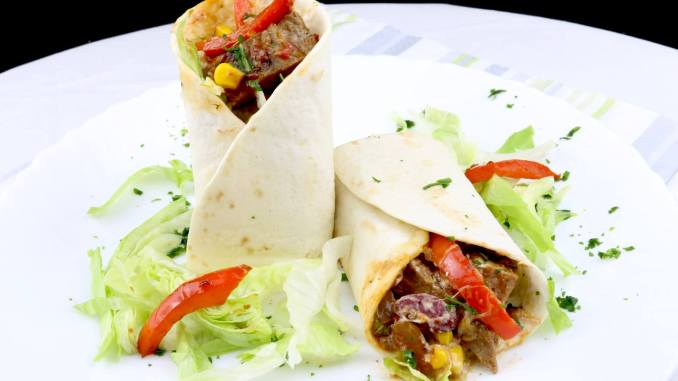BBQ Steak Wraps Serviervorschlag