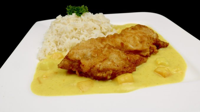Feierabend Küche Crispy Chicken auf fruchtiger Thai Curry Soße