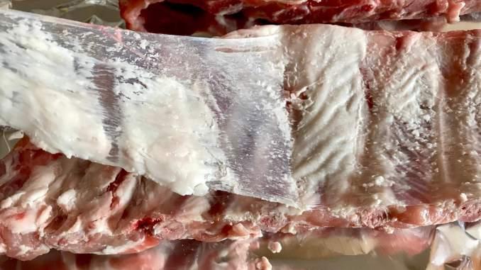 Saftig und zarte BBQ Spare Ribs aus dem Ofen Borbereitungen