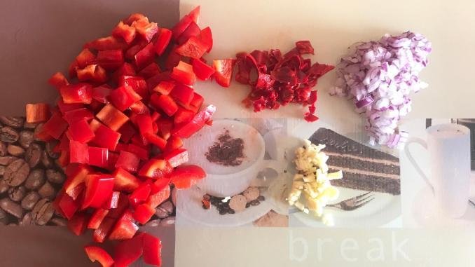 Vorbereitung Pesto Calabrese