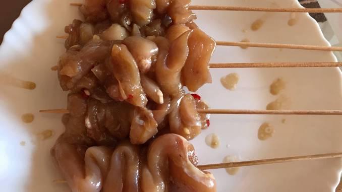 Zubereitung Hähnchen Teriyaki Grill Spieße