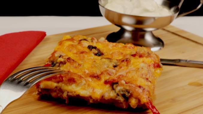 BBQ Hackfleisch Pizza