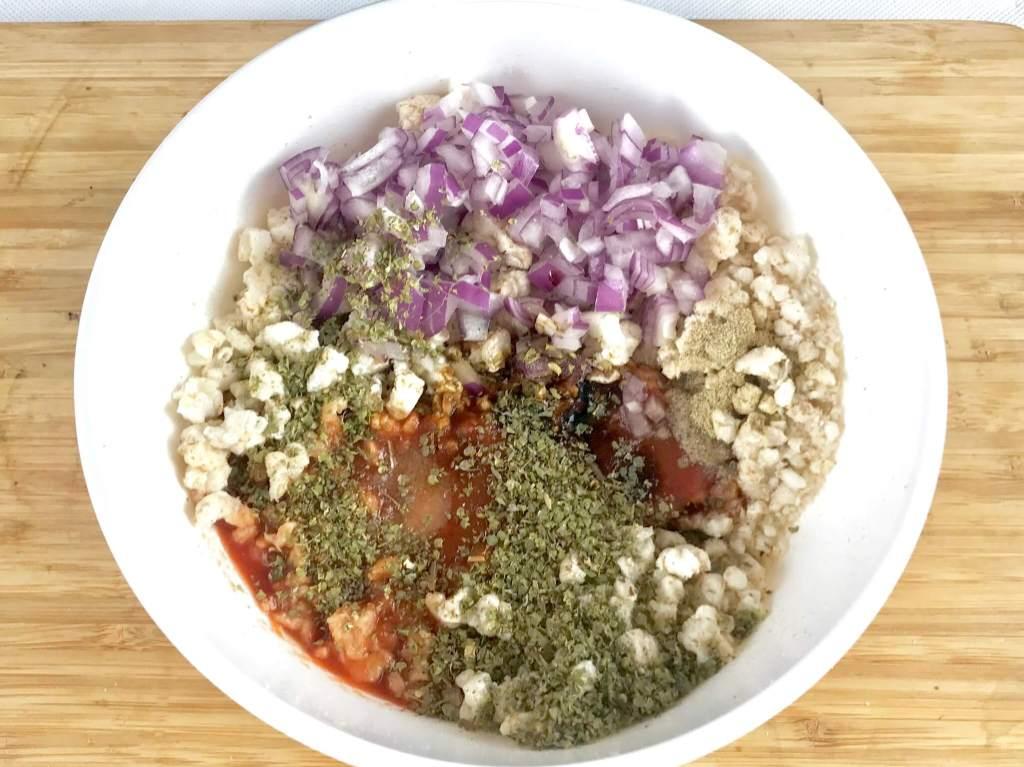 Vorbereitung und Zubereitung Vegetarisches Mett