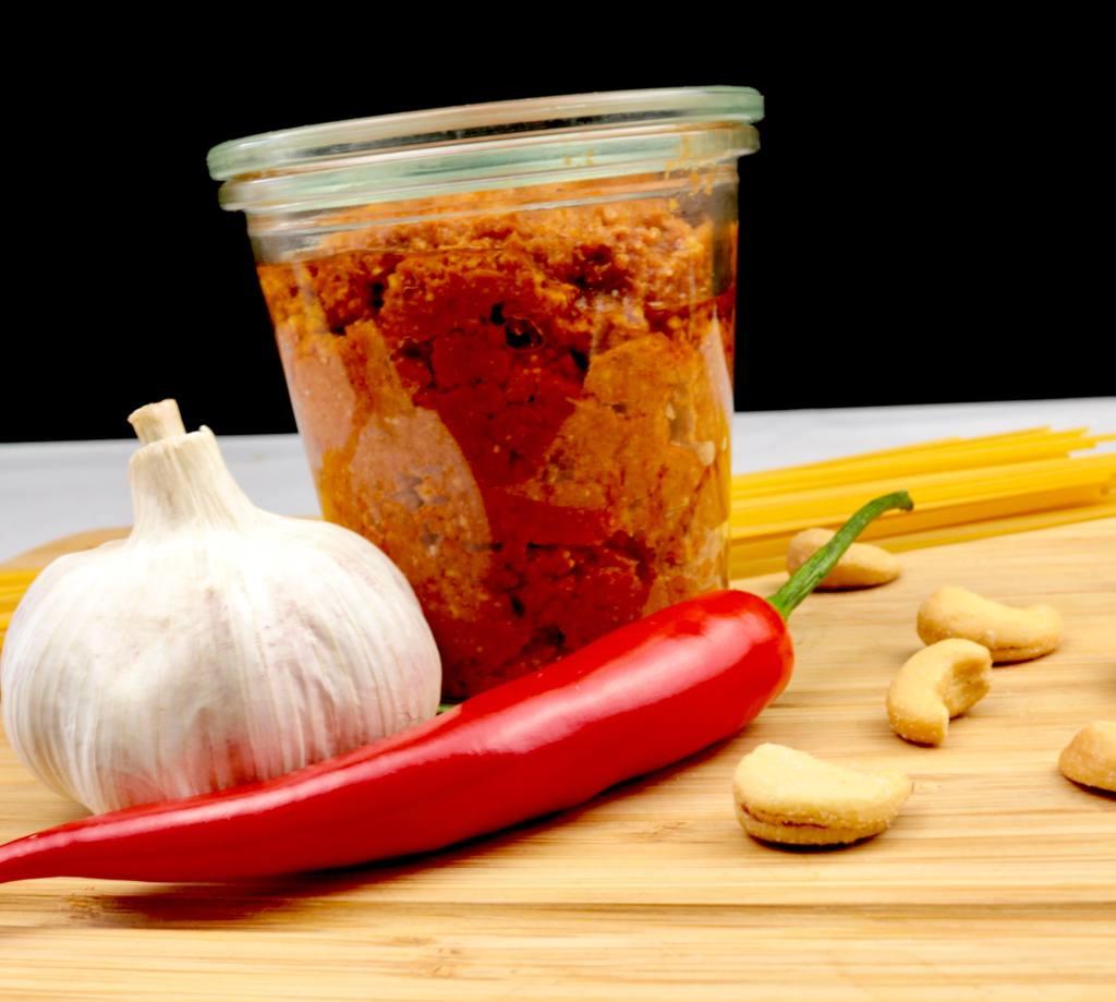 Zubereitung Selbstgemachtes Pesto Rosso