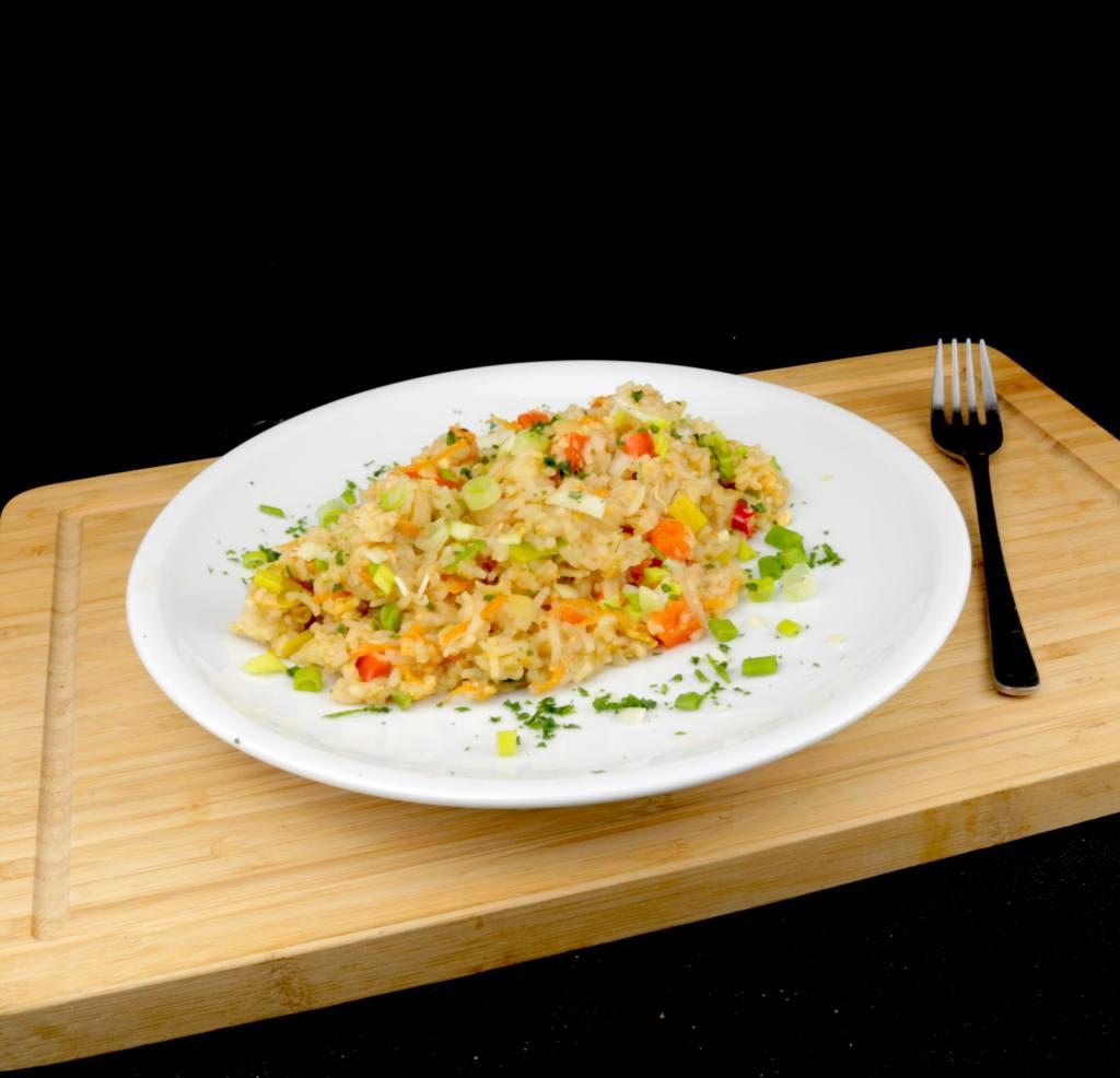 Zubereitung Gebratener Reis mit Ei und Gemüse