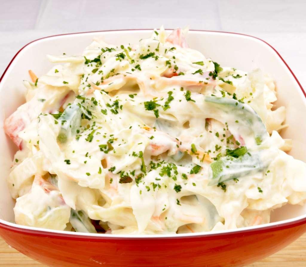 Serviervorschlag Tzatziki Salat