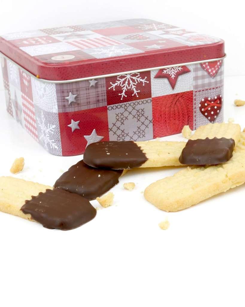 Zubereitung Butterspritzgebäck mit Schokolade