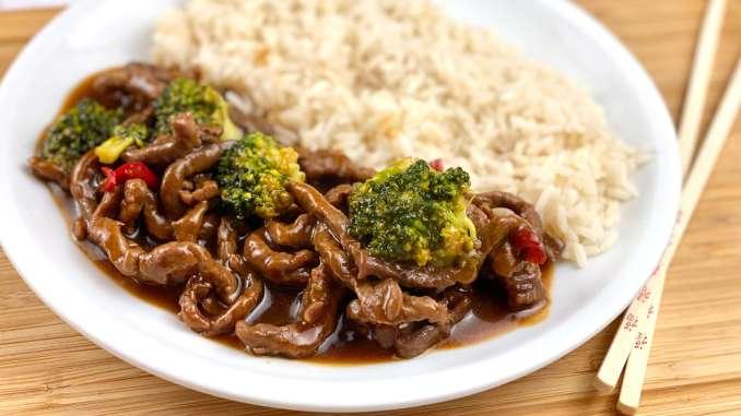 Asiatische Rindfleisch Pfanne mit Brokkoli