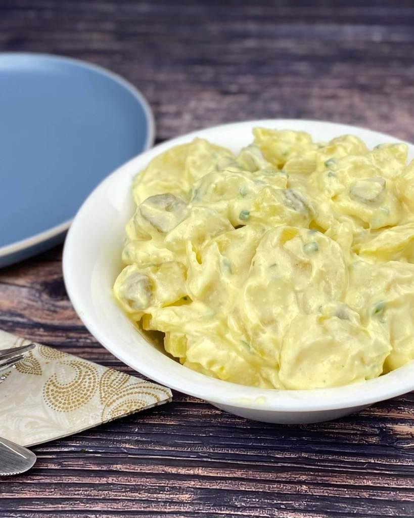 Serviervorschlag Kartoffelsalat mit Creme Fraiche