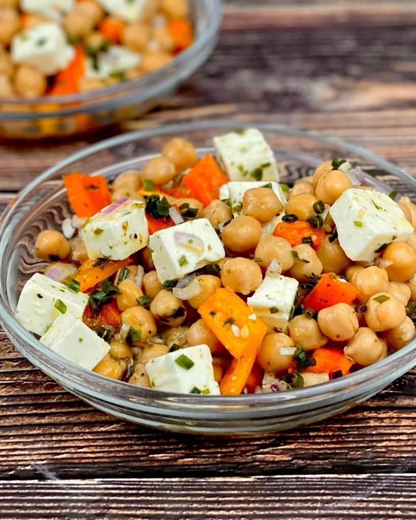 Mediterranen Kichererbsen Salat