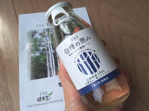 白樺の恵み瓶表