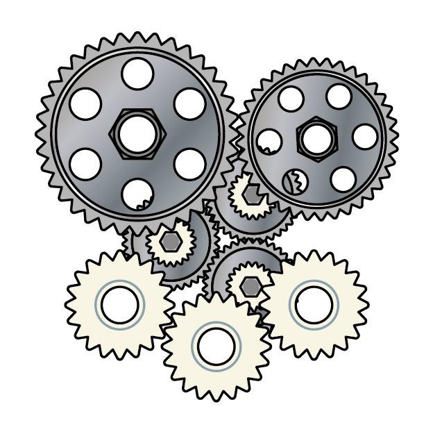 歯車のイラスト画像