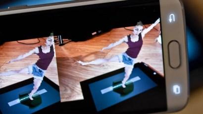 Zubr volumetric dance piece in augmented reality on smartphone