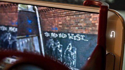 Zubr 3D scanned Mild Mild West Banksy piece in virtual reality