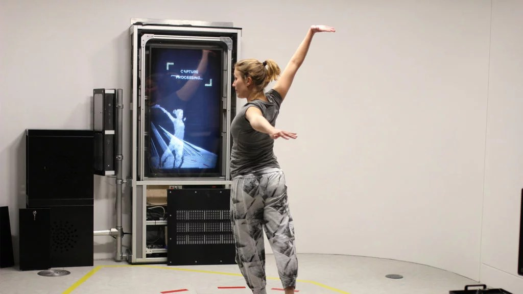 Zubr VR Lab volumetric video 4D scanning hologram augmented reality installation in We The Curious Science Centre