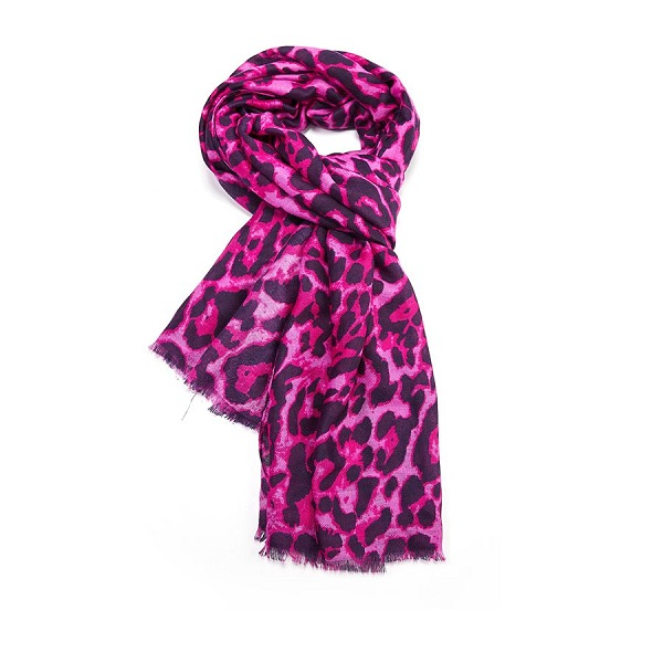 leopard scarf purple