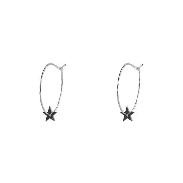 star hoops Silver