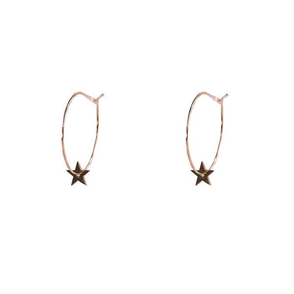 Star hoops Rose