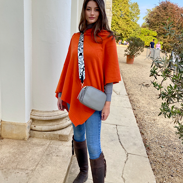 2 Seam Poncho Burnt Orange