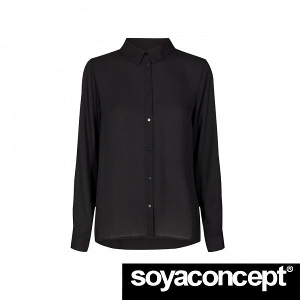 Cemre Black Shirt SOYACONCEPT - front 1