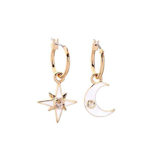 Star & Moon Enamel Earrings