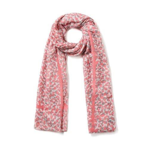 Neon Leopard Dots Coral Scarf