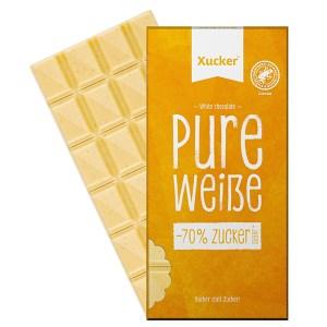 XUCKER Weisse Schokolade mit Xylit, Birkenzucker. Zuckerfreie Schokolade von Xucker