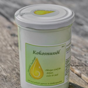 Starlinger natives kaltgepresstes Bio-Kokosöl in Rohkostqualität 1000 ml Glas