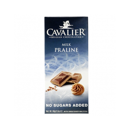 Cavalier Schokolade Haselnusscreme 90 g. Cavalier Low Carb Schokolade kaufen. Sorte Haselnusscreme Schokolade von Cavalier / Belgien online kaufen. Low Carb