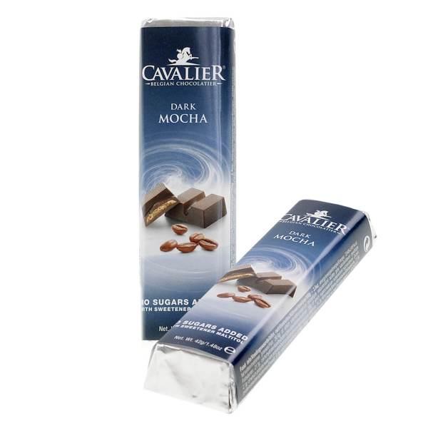 """Cavalier Schokoriegel """"Dark Mocha"""" 42 g, Cavalier Schokoriegel Dark Mocha kaufen, Cavalier Schokoriegel kaufen. zuckerfreie Schokolade. Schokolade ohne Zucker kaufen, Süßigkeiten ohne Zucker. zuckerfreie Süßigkeiten kaufen."""