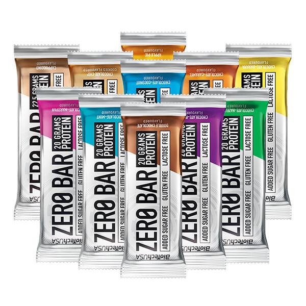 Biotech USA Zero Bar Schokolade-Haselnuss Proteinriegel 50 g, Zero Bar Schoko Haselnuss