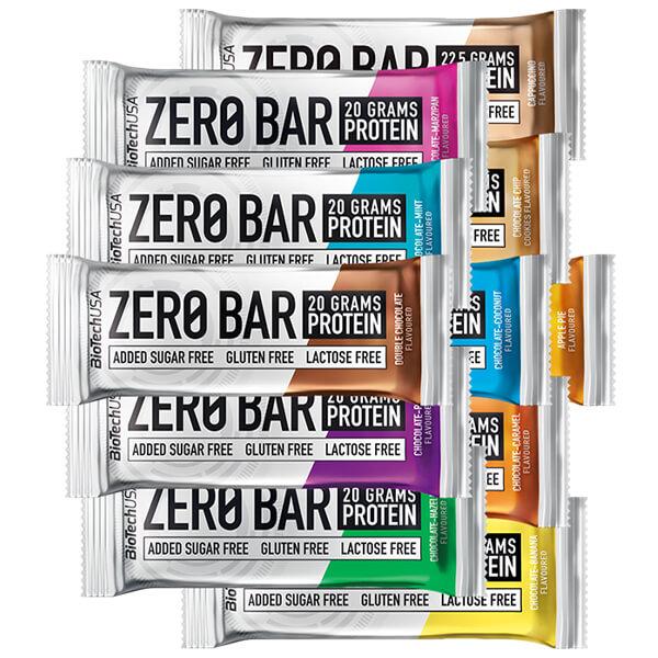 Biotech USA Zero Bar Schokolade-Karamell Proteinriegel 50 g, Zero Bar Karamell