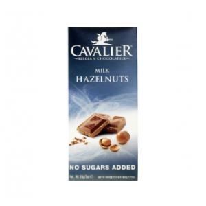 Cavalier Schokolade Milch Haselnuss 85 g. Cavalier Low Carb Schoko kaufen. Milch Haselnuss Schokolade Low Carb im Zucker-frei Shop online kaufen!