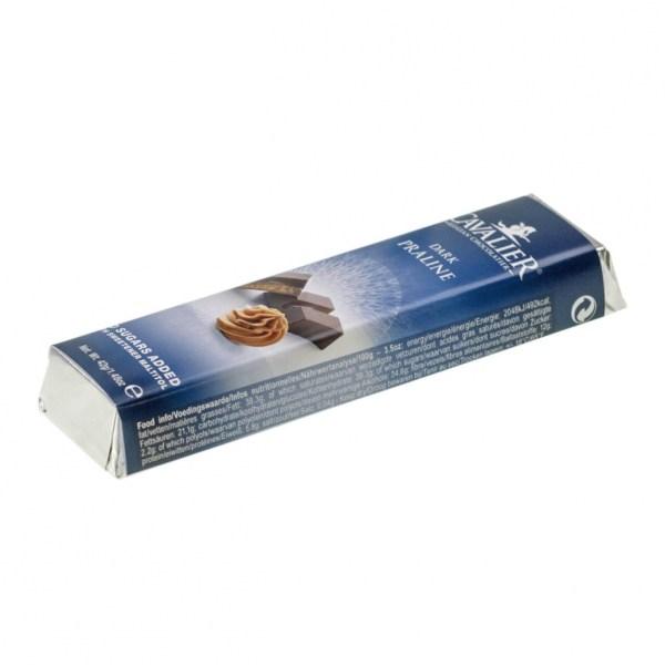 """Cavalier Schokoriegel """"Dunkle Praline"""" 42 g. Zuckerfreie Schokolade, Low Carb Schokolade kaufen."""