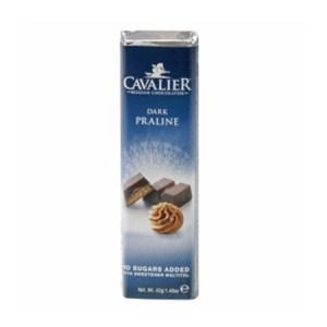 Cavalier Schokoriegel Dunkle Praline 42 gr. im Zucker-frei Online Shop kaufen. Cavalier Schokoriegel Dunkle Praline Low Carb Schoko Riegel online kaufen