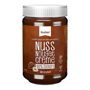 ► Topseller ◄ Xucker feine Low-Carb Nuss-Nugat-Creme ohne Palmöl mit Süßungsmittel Erythrit im 300 gr. Glas