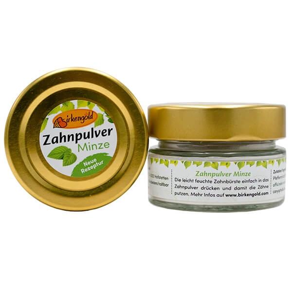 Zahnpulver mit Xylit 30 g Glas. Xylit Zahnpulver kaufen im Shop > Calciumcarbonat, Birkengold® Xylit und Kräutern reinigt schonend die Zähne