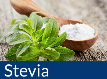 Zuckerfreie Produkte gesüßt mit Stevia, Stevia kaufen, Stevia bestellen. Produkte mit Stevia kaufen. Online Stevia Lebensmittel kaufen