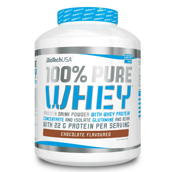 BioTech USA 100% Pure Whey 2270 g Proteinpulver, BioTech USA 100% Pure Whey Schokolade, BioTech USA 100% Pure Whey vanille, BioTech USA 100% Pure Whey erdbeere, Biotech pure whey