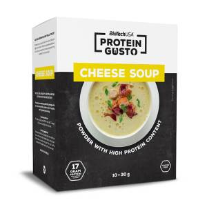 BioTech USA Protein Gusto Protein Gusto Cheese Soup proteinreiche Käsesuppe 10 x 30g Packung. 17g Protein / 30g. BioTech USA Protein Gusto Protein Käsesuppe