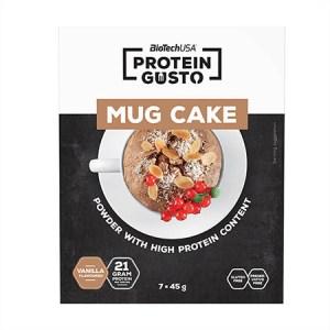 BioTechUSA Protein Gusto Mug Cake Tassenkuchen Vanille 7 x 45 g Packung. Low Carb Kuchen Backmischung. BioTech USA Tassenkuchen fertig Backmischung kaufen!