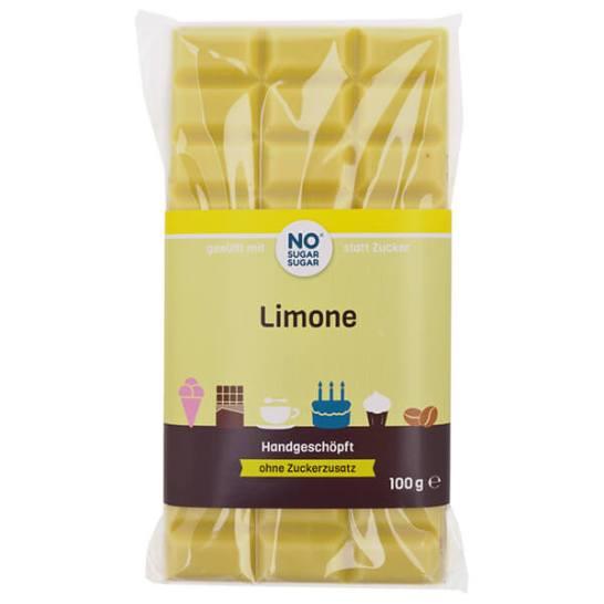 Handgeschöpfte Schokolade zuckerfrei zarte Limone No Sugar Sugar 100g kaufen. Zuckerfreie Schokolade, Schokolade ohne Zucker kaufen